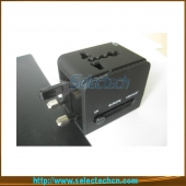 China USB Charger Word Travel Adapter Voor Reizen Met Safety Shutter En 1A Output SE-MT148U2 fabriek
