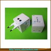 China USB Charger Word Travel Adapter Voor Reizen Met Safety Shutter En 2.1A Output SE-MT148U-2.1A fabriek