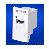 China USB module for wall plate 45 type 5V 1A USB charging port factory