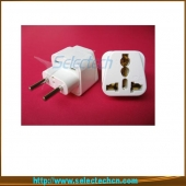 China Universal 4.0mm 10A Univesal To Two Pin Eu Plug Adapter With CE SE-UA9C factory
