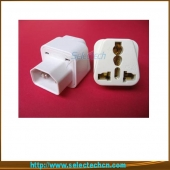 China Universal To  IEC320 Travel Plug Adapter For Computer With Ground Pin SE-UA320 factory