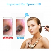 China Wireless security 5.5mm ear spoon endoscope tool selection medical ear cleaning Wifi integrated otoscope factory