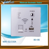 China Wireless Wifi Routers USB/3G POWER/ WPS LAN Wall Wifi Router with USB Charger WIFI-02 factory