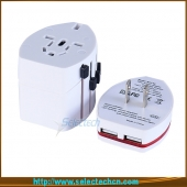 China Worldwide USB Travel Adapter Universal Travel Adapter mit Dual USB Charger 2.1 a Output SE-608-2.1 a-Fabrik