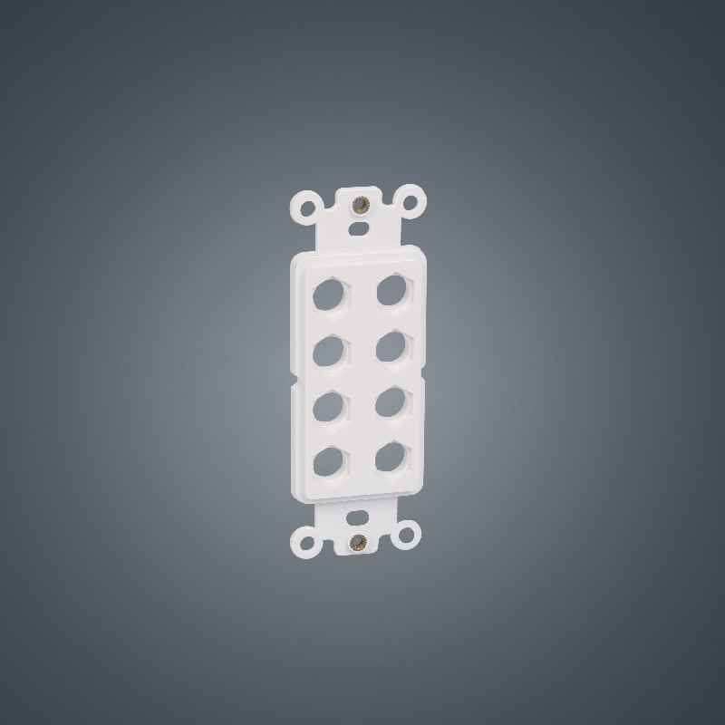 8-holes US faceplate 120 type Hexagon ABS Plastic insert plate board for Audio/Video