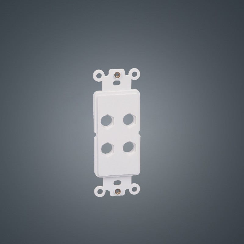 Banana faceplate 120 type Hexagon 4-holes ABS Plastic insert plate board for Audio/Video