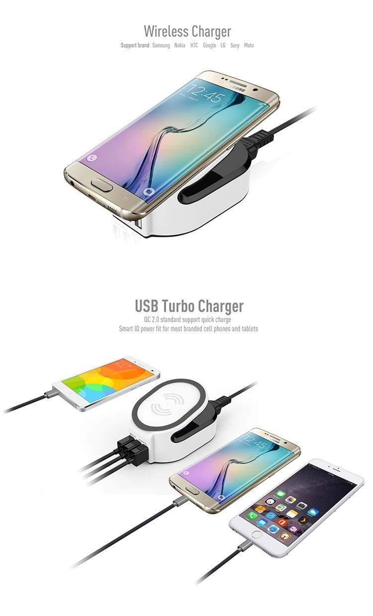 QC 3.0 Quick Charge Wireless Charger 3 in 1 with 50W power ...