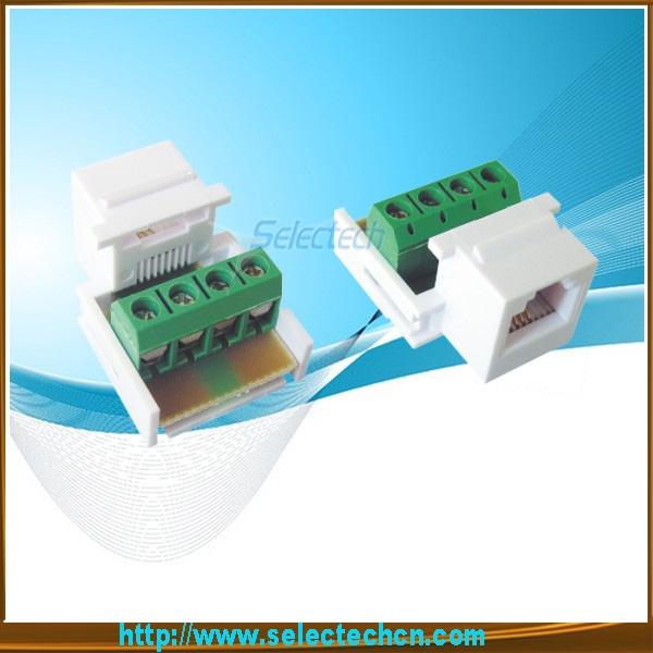 Wiring jack rj11 keystone Voice RJ11